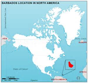 Barbados On World Map by Where Is Barbados Located On The World Map