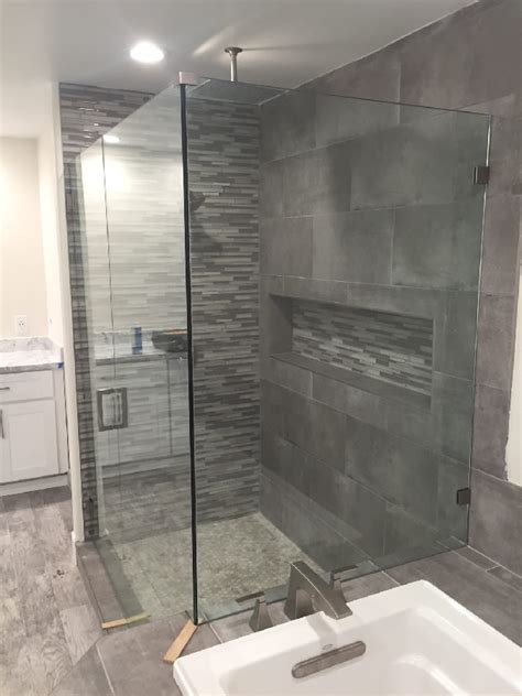 Glass Shower With Bench Shower With Bench San Diego Patriot Glass And Mirror