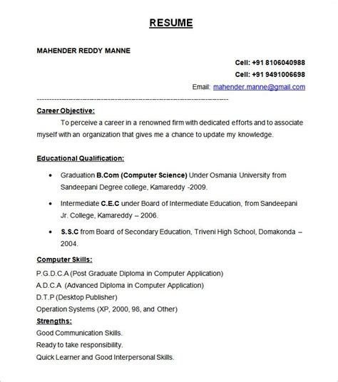 resume format for freshers b tech free 54 best resume formats pdf doc free premium templates