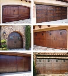 Wood Stained Garage Doors Faux Wood Doors Paper Paint