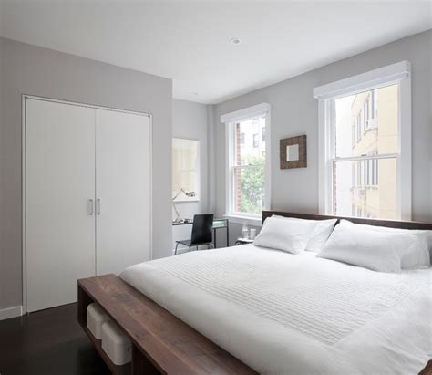 gray walls contemporary bedroom benjamin moore east village duplex modern bedroom new york by