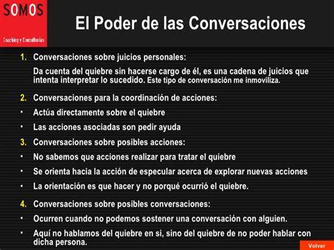 el poder de los 9 el poder de las conversaciones