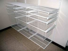 White Wire Closet Systems Stunning Wire Shelving Closet Organizer With White