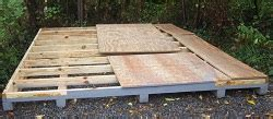 Shed Foundation by Storage Shed Kits