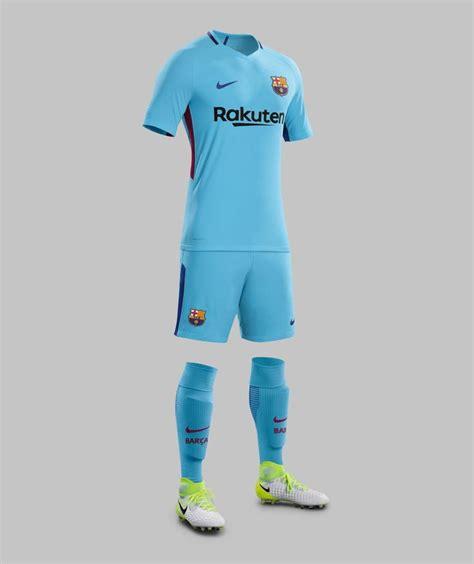 barcelona uniform barcelona 17 18 away kit released footy headlines