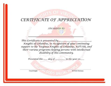 word template certificate of appreciation certificate of appreciation word template template