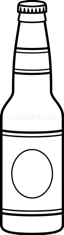 beer cartoon black and white beer bottle graphic stock vector colourbox