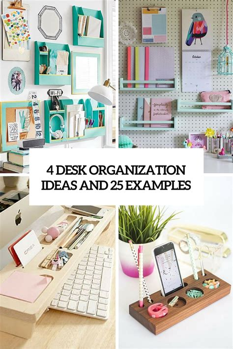 Diy Desk Organizers Archives Shelterness Organized Desk Ideas