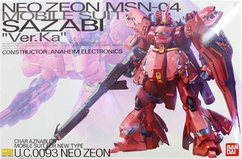 Gunpla Mg 1 100 Sazabi Ver Ka Dalam Model mg 1 100 gundam msn 04 sazabi ver ka model kit at