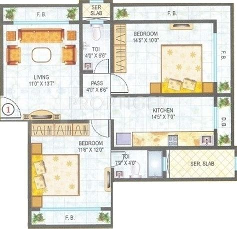 950 sq ft 950 sq ft 2 bhk 2t apartment for sale in kandivalikar