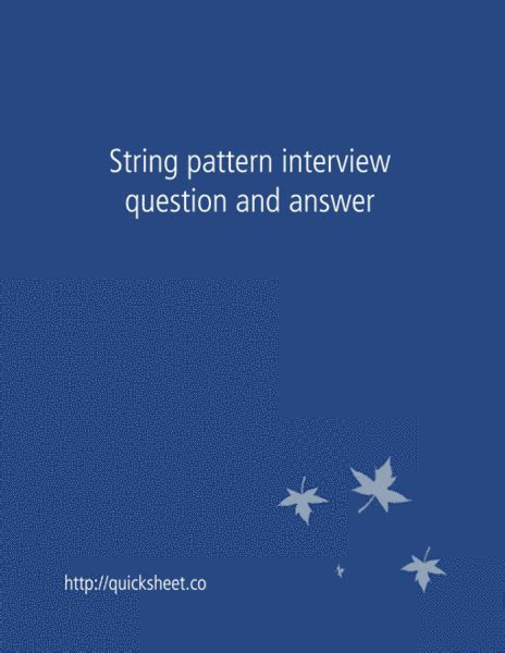 pattern questions in c pdf string pattern interview question and answer interviewsteps