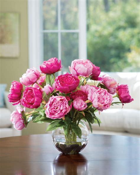 Flower Centerpieces by Buy Customer Favorite Deluxe Peony Silk Flower Centerpiece