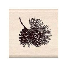 pine cone rubber st fir tree branch and pine cones large rubber st by