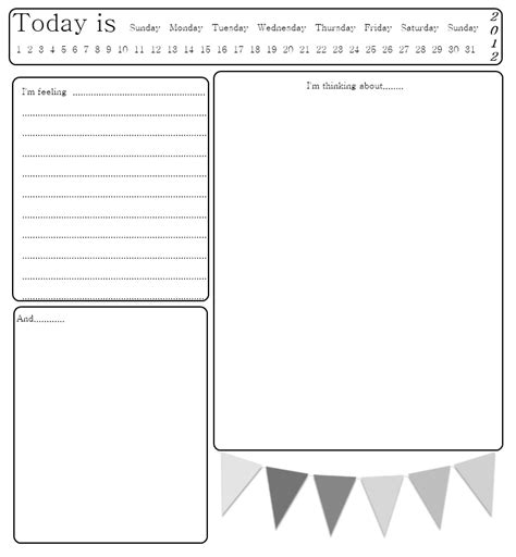 diary card template journal printable pages cards and file folders