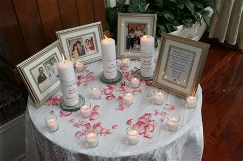 wedding memorial table things i like pinterest