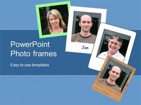 photography powerpoint template photo frames powerpoint template