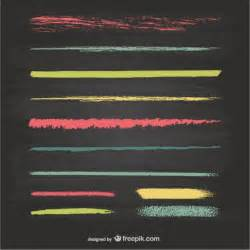 Vector Clip Of A Set Of Different Colored Chalkboard Elements Vectors Photos And Psd Files Free