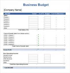 Sample Business Budget Template 7 Excel Spreadsheet Templates Download Documents In Excel