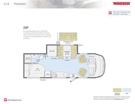Winnebago Via Floor Plans by 100 Winnebago Floor Plans Winnebago Fuse 23t