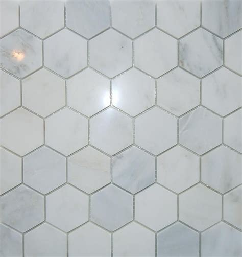 2 quot hex carrara marble floor master bath pinterest mosaic tiles floors and bathroom flooring