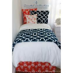 navy blue and coral bedding coral and navy bedding nat navy and coral crib rail cover