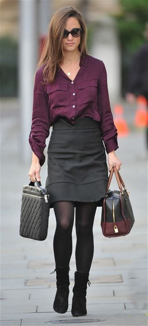 Anina Blouse Navy black and grey skirt redskirtz