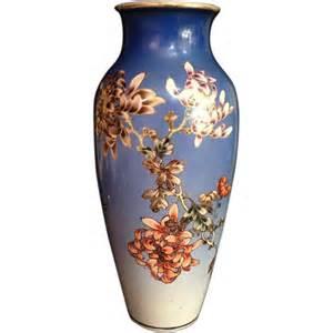 Kinkozan Vase by Japanese Antique Large Porcelain Kinkozan Vase Signed