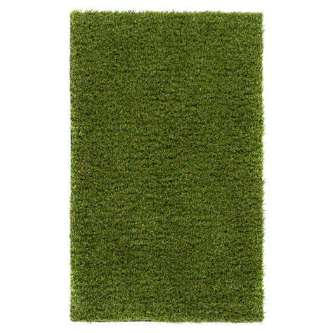 outdoor artificial grass rug well woven arcadia 1 ft 8 in x 2 ft 7 in artificial grass indoor outdoor turf green rug ar