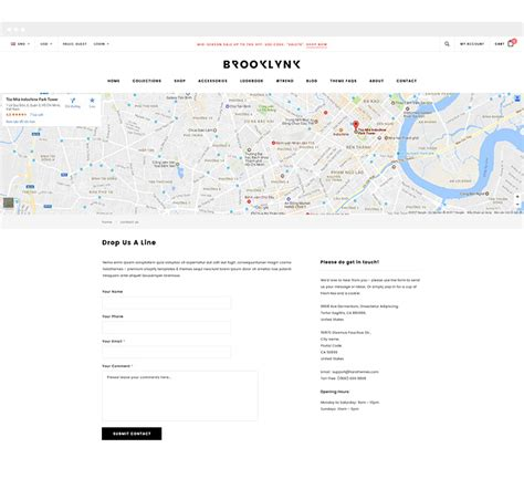shopify themes with contact form brooklynk responsive fashion shopify template sections