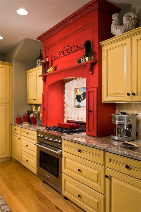 yellow kitchen cabinets eclectic kitchen paramount granite blog 187 5 red kitchens