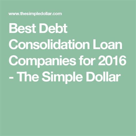 best loan companies best debt consolidation loan companies for 2016 the