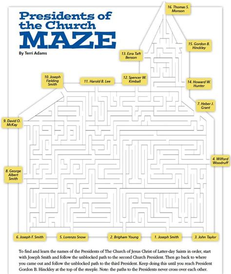 printable lds mazes 17 best images about primary on pinterest book of mormon