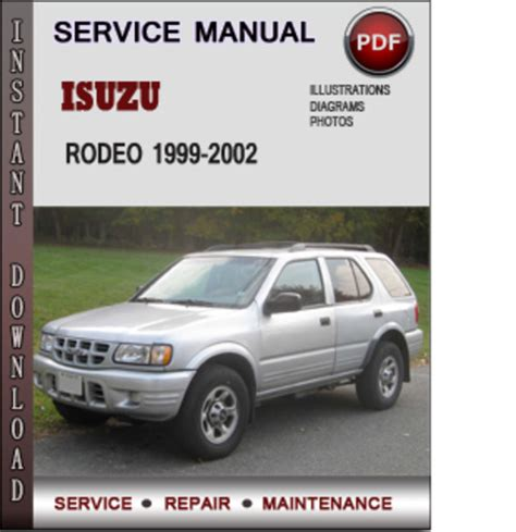isuzu rodeo 2001 2002 factory service manual car service manuals repair user isuzu rodeo 1999 manual pdf
