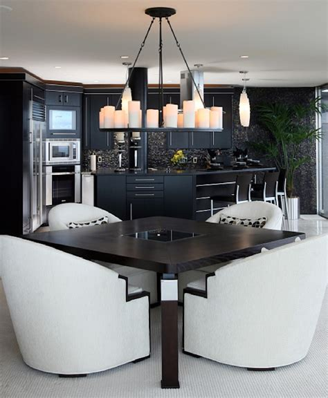 10 modern black and white dining room sets that will 10 astonishing modern dining room sets black dining tables