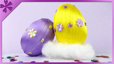 Ribbon Z diy pisanki z tasiemki ribbon easter eggs eng