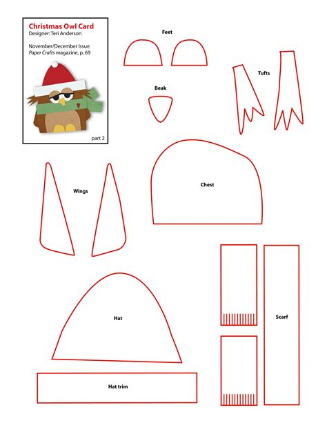 free paper craft patterns free owl pattern index of picture to pin on