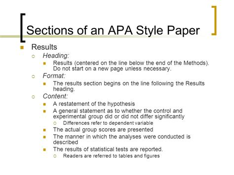 results section apa sle writing an apa style research paper ppt video online