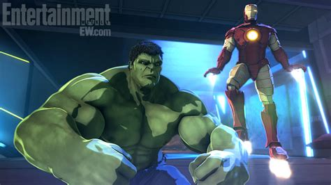 marvel ironman and hulk in film first look at marvel animation s debut feature iron man