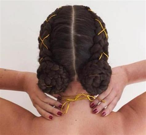 braided to the scalp in a bun style 2 goddess braids with weave new natural hairstyles