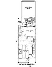 Narrow Home Plans by Narrow House Plans With Garage Cottage House Plans