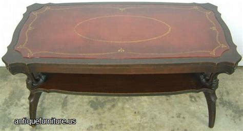 antique mahogany leather top coffee table at antique