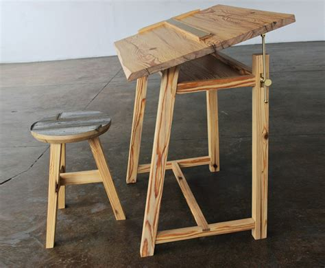 12 215 12 Designers Transform Reclaimed Nyc Lumber Into Fresh Diy Drafting Desk