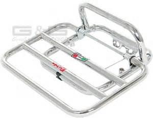 luggage rack for rear faco chrome piaggio vespa gts gtv