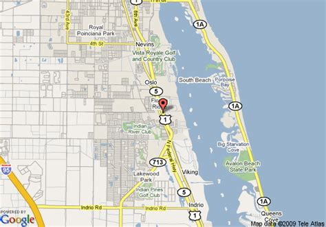 map of howard johnson inn vero vero