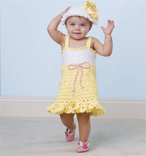 pattern infant dress craftdrawer crafts free crochet a summer baby dress and