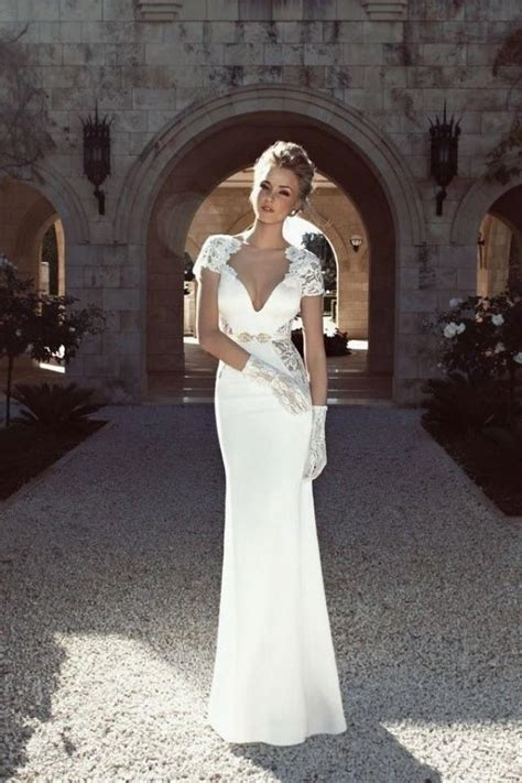 netted wedding dresses sophisticated white wedding dress with netted design
