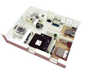 2 Bedroom Floor Plans by 25 More 2 Bedroom 3d Floor Plans