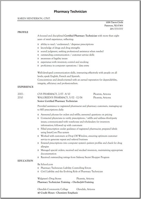 10 pharmacy technician cover letter agreementtemplates regarding