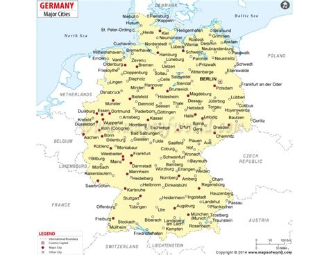cities in germany germany city map download map major cities in germany