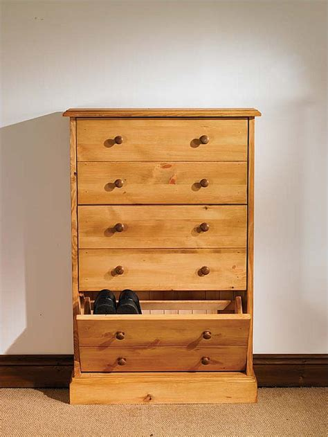 Large Shoe Storage Cabinet Hton Waxed Pine Furniture Large Shoe Storage Cabinet Rack Ebay